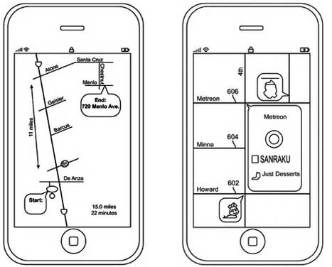 Apple schematic maps.