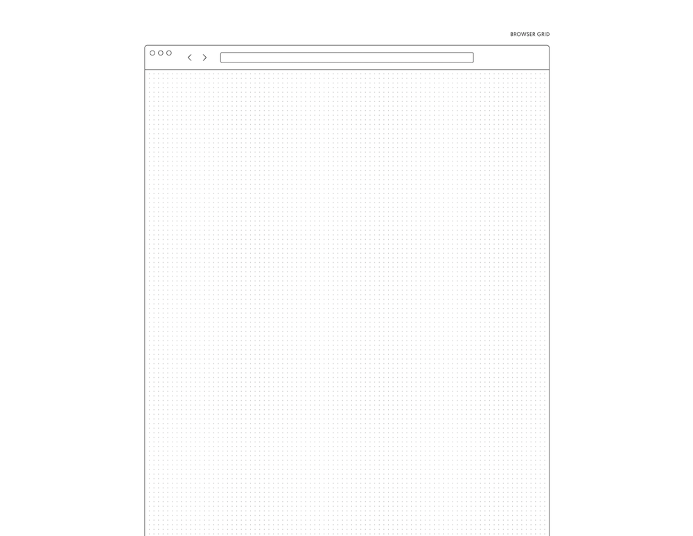 An example of the printable desktop wireframe