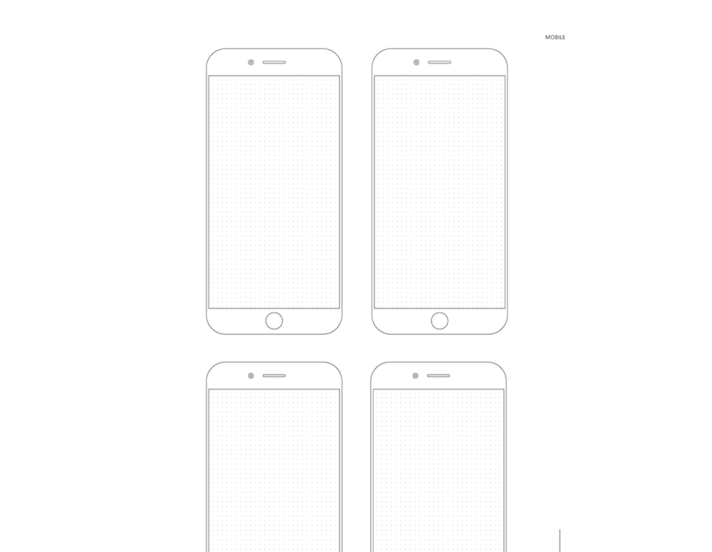 An example of the printable mobile wireframe